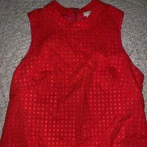 JCrew size 8 red/orange mock neck sleeveless top